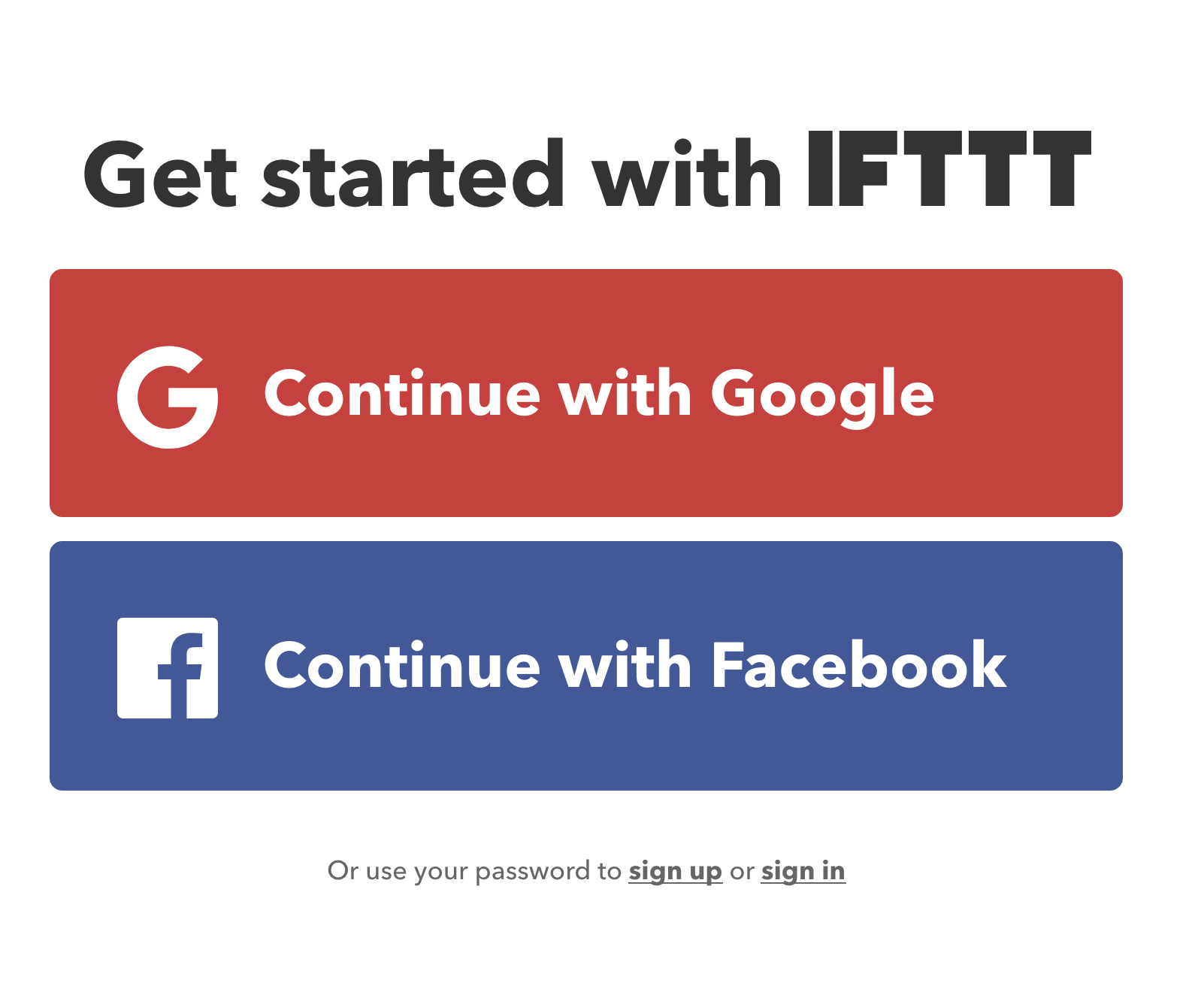 ifttt sign up